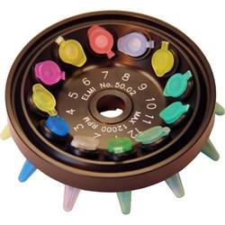 Адаптер для центрифуг СМ-50, СМ-50М (12 шт.) для роторов 50.01 и 50.02 с пробирками 0,5 мл - фото 18800