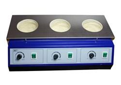 Колбонагреватель трехместный 500 мл UT-4100-3 - фото 24020