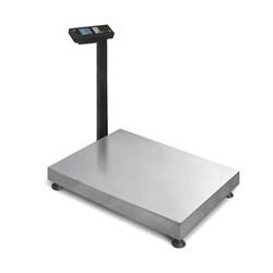 Товарные весы с расчетом стоимости ТВ-М-300.2-Т3 со стационарной стойкой, с ЖКИ индикатором, аккумулятором - фото 6821