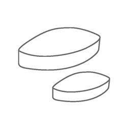 Элемент перемешивающий магнитный эллипс 20 х 10 мм, ПТФЭ, IKAFLON 20 (5 шт/уп) - фото 74404