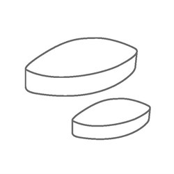 Элемент перемешивающий магнитный эллипс 40 х 20 мм, ПТФЭ, IKAFLON 40 (5 шт/уп) - фото 74407