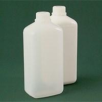 Бутылка прямоугольная 1100 мл  натуральная с крышкой №242 ПЭ - фото 8556
