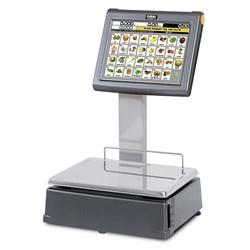 """Системные весы самообслуживания S540D с чекопечатью и сенсорным экраном 15""""  на стойке - фото 96083"""