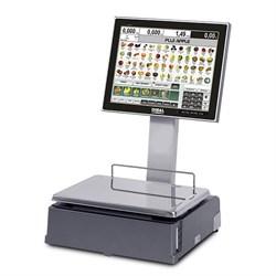 """Весы самообслуживания  CS-1100 с сенсорным экраном 15"""" на стойке и чекопечатью - фото 96089"""