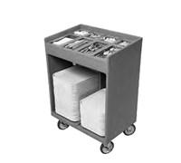 Тележка CAMBRO для подносов/стол приборов син-сер TC1418 401
