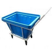 Тележка тп 27.1, пластиковый контейнер, 200л