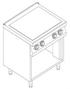 Плита 4 конфорочная 700серии KOVINASTROJ ESI-T47/PB50967