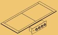 Плита 2 конфорочная KOVINASTROJ EAD-4C-DI 40985 встроенная