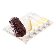 Форма для мороженого 93х48,5х25мм 90мл силикон,пластик 12шт PADERNO 41466-01