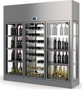 Шкаф винный ENOFRIGO WINE LIBRARY+ 3P ISOLA H260 P60 серебристый