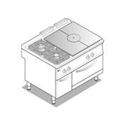 Плита 900 серии TECNOINOX PFPG12GG9 313032 газ