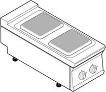 Плита 2 конфорочная 740 серии tecnoinox pcs4e7 716005
