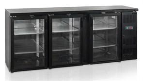 Шкаф холодильный со стеклом TEFCOLD CBC310G барный черный