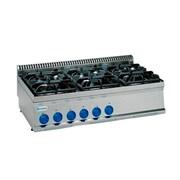 Плита 6 конфорочная 700 серии TECNOINOX  PC105G7 613003 газ