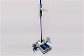 Электронный ростомер РЭП напольный укомплектованный весами ВМЭН и возможностью поключения к компьютеру
