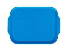 Поднос столовый 450х355 мм с ручками голубой