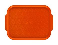 Поднос столовый 450х355 мм с ручками оранжевый
