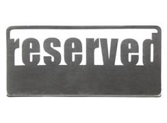 Табличка настольная «Reserved 1» 140х50 мм