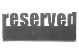 Табличка настольная «Reserved 2» 140х50 мм