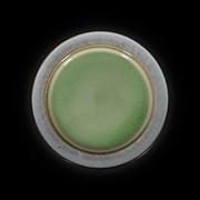 Тарелка мелкая «Corone Tesoro» 267 мм серый+зеленый