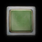 Тарелка мелкая «Corone Tesoro» 260х260 мм серый+зеленый
