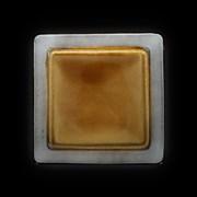 Тарелка мелкая «Corone Tesoro» 260х260 мм серый+светло-коричневый
