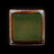Тарелка квадратная «Corone Verde» 158х158 мм синий+зеленый