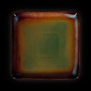 Тарелка квадратная «Corone Verde» 178х178 мм синий+зеленый