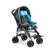 Коляска-трость инвалидная Pliko для детей с ДЦП - черно-голубой