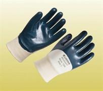 Перчатки Нитрогард 7200 с трикотажными манжетами с нитриловым покрытием ладони
