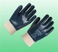 Перчатки Нитрогард 7202 с трикотажными манжетами с полным нитриловым покрытием