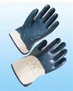 Перчатки Нитрогард 7207 с крагами с нитриловым покрытием ладони