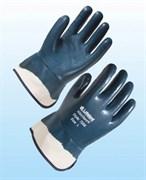 Перчатки Нитрогард7208 с крагами с полным нитриловым покрытием