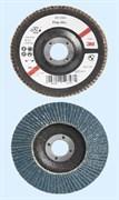 Круг лепестковый торцевой конический 566A P40 125мм х 22мм (65033)