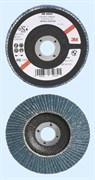 Круг лепестковый торцевой конический 566A P60 125мм х 22мм (65034)