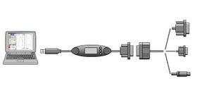 AX-KO2737-500 Кабель влагозащищённый RS-232C (9P-9P, 5м.) для DL, DX