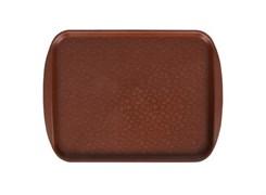 Поднос столовый, 330х260 мм, цвет коричневый