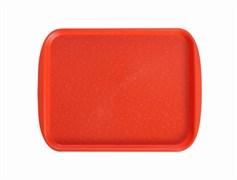 Поднос столовый 415х305 мм с ручками оранжевый