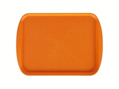 Поднос столовый 415х305 мм с ручками светло-оранжевый