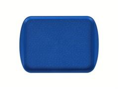 Поднос столовый 415х305 мм с ручками синий
