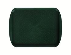 Поднос столовый 415х305 мм с ручками темно-зеленый