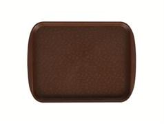 Поднос столовый 330х260 мм светло-коричневый