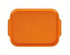 Поднос столовый 450х355 мм с ручками светло-оранжевый