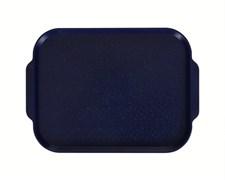 Поднос столовый 450х355 мм с ручками темно-синий