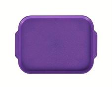 Поднос столовый 450х355 мм с ручками фиолетовый