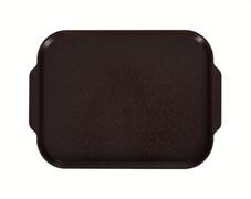 Поднос столовый 450х355 мм с ручками шоколадный
