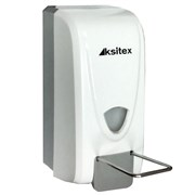 Белый пластиковый дозатор мыла Ksitex ES-1000