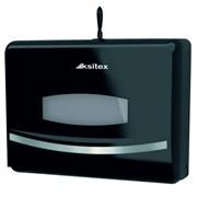 Черный пластиковый держатель бумажных полотенец Z-сложения Ksitex ТН-8125B