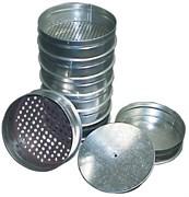 Наборы сит с поддоном и крышкой ячейки:1,25; 0,9; 0,63; 0,315; 0,16; 0,08; 0,071 d=200 мм ЛО-251 нержавеющая сталь