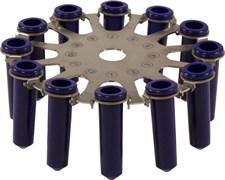 Ротор для центрифуги СМ-6М/СМ-6МТ на 12 пробирок до 12 мл.